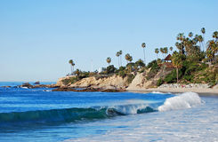 Main Beach And Heisler Park At Laguna Beach, California . Stock Photo