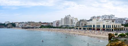 Big beach of Biarritz in France