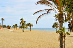 Main beach of Carboneras in the Cabo de Gata-Nijar Natural Park, Stock Photo