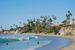 Main Beach and Heisler Park at Laguna Beach, California . Stock Photos