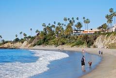 Main Beach and Heisler Park at Laguna Beach, California . Royalty Free Stock Photography