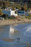 Main Beach of Laguna Beach, California. Image shows the Main Beach of Laguna Beach, California. Photo, taken at low tide, shows the historic Hotel Laguna (white Stock Photos