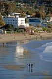 Main Beach of Laguna Beach, California. Image shows the Main Beach of Laguna Beach, California. Photo, taken at low tide, shows the historic Hotel Laguna (white stock photos