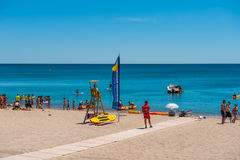 Main beach Miami Platja, Spain. Miami Platja, main beach Cristal, holiday time, Spain Royalty Free Stock Image
