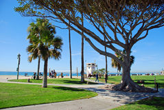 Main Beach and seaside park of Laguna Beach, California. Royalty Free Stock Images