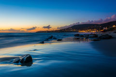 The Main Beach at sunset, in Laguna Beach  Stock Photography