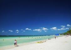 Main beach of tropical paradise boracay island philippines Royalty Free Stock Photos