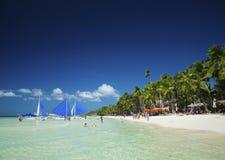 Main beach of tropical paradise boracay island philippines Royalty Free Stock Photo