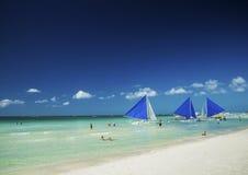 Main beach of tropical paradise boracay island philippines Royalty Free Stock Photography