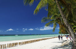 Main beach of tropical paradise boracay island philippines Royalty Free Stock Photo