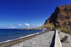 Main beach of the Valle Gran Rey, La Gomera island. Royalty Free Stock Photography
