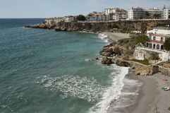 The main beaches of Nerja Stock Image