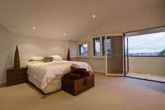 Main Bedroom. In a luxury home Royalty Free Stock Photos