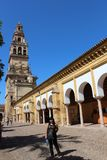 The main bell Tower of Cordoba Mosque, Spain. The Great Mosque or Mezquita famous interior in Cordoba, Spain Royalty Free Stock Photography