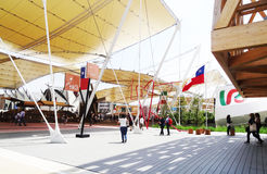 Main boulevard Structure- Expo 2015 Royalty Free Stock Image