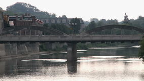 Main Bridge, Cambridge, downtown stock footage