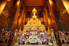 Main buddha at Pho temple, Thailand Royalty Free Stock Photography