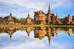 Main buddha Statue in Sukhothai historical park Royalty Free Stock Photos