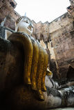 The main Buddha statue in the temple of Sukhothai, Thailand Royalty Free Stock Photos