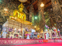 Main buddha statue in Wat Suthat in Bangkok Stock Images