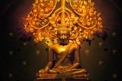 Main Buddha on Wat Sirindhorn Wararam Phu Prao temple. Stock Photos