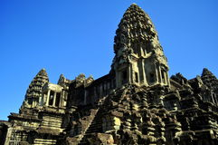 Main  building of Angkor Wat temple. The prime central building of famed Angkor Wat temple, as Siem Reap, Cambodia Royalty Free Stock Photo