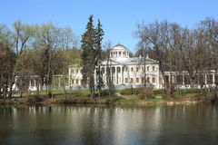 Main building of the estate near Moscow Stock Image
