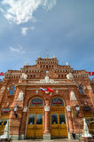 Main building facade of the railway station in Kazan, Russia. Royalty Free Stock Image