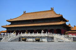The main building in the forbidden city, China royalty free stock images