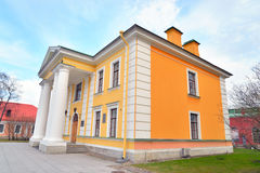 The main building of the guardhouse in Peter and Paul Fortress. Stock Photos