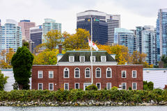 Main Building in HMCS Discovery. Royalty Free Stock Photo