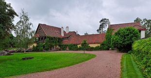 Main building of Hvittrask manor, Kirkkonummi, Finland Stock Photography