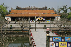 The main building of the Imperial City of Hue, Vietnam Royalty Free Stock Photos