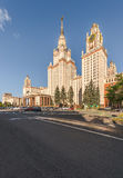 The main building of Lomonosov Moscow State University on Sparro Royalty Free Stock Photo
