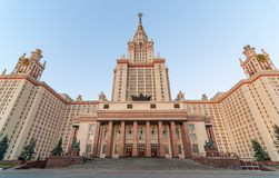The main building of Lomonosov Moscow State Stock Photos