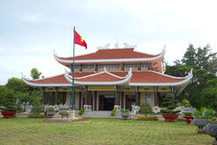 Main building of the memorial pantheon of Ho Chi Minh cloudy morning. Vungtau Stock Photography