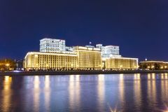 Main Building of the Ministry of Defence of the Russian Federation Minoboron and Moskva River. Moscow, Russia. Main Building of the Ministry of Defence of the royalty free stock images