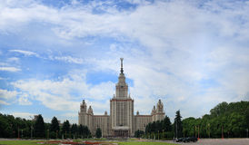 Main building of Moscow state university. Royalty Free Stock Photo