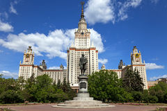 The main building of Moscow State University. Royalty Free Stock Image