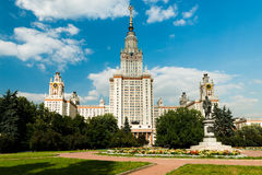 Main building of Moscow state University Royalty Free Stock Image