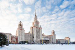 The main building of Moscow State University (MGU), Russia. Royalty Free Stock Photo