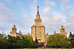 Main building of Moscow State University, Moscow, Russia Stock Images