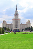 The main building of Moscow State University named after M.V. Lo Royalty Free Stock Photos