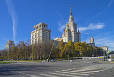 The main building of Moscow State University. Stock Photography