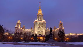 The Main Building Of Moscow State University On stock footage