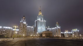The Main Building Of Moscow State University On stock video footage