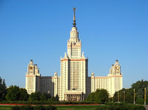 Main building of Moscow State University Stock Photos