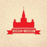 The main building of Moscow State University - the symbol of Moscow. Stock Image