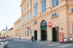 Main building of the Museum Quarter in Vienna city Stock Photos