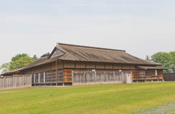 Main Building of Ne Castle in Hachinohe, Japan. Reconstructed Main Building palace of Ne Castle in Hachinohe, Japan. Castle was founded in 1334 by Nanbu Moroyuki Royalty Free Stock Photo
